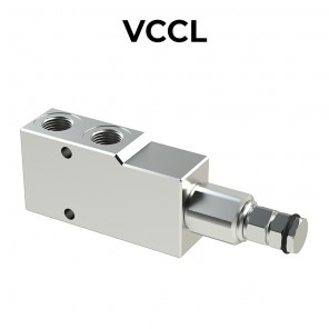 Single counterbalance valve for closed center VCCL