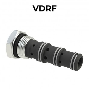 VDRF Cartridge flow divider/combiner