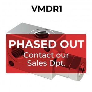 VMDR1 pressure relief valve for 20 lpm (5.3 gpm) flow rate