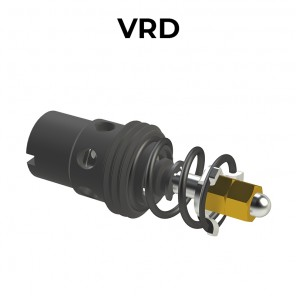 VRD Flow control compensated valves, 2 ways, unidirectional, adjustable