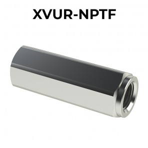 F/F XVUR-NPTF check valve in stainless steel